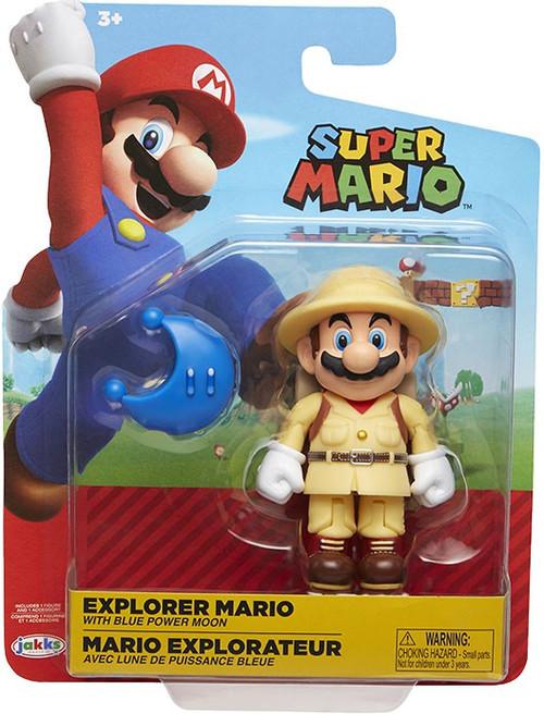 World of Nintendo Wave 15 Explorer Mario Action Figure [with Blue Power Moon]