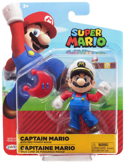 World of Nintendo Wave 15 Captain Mario Action Figure [with Red Power Moon]