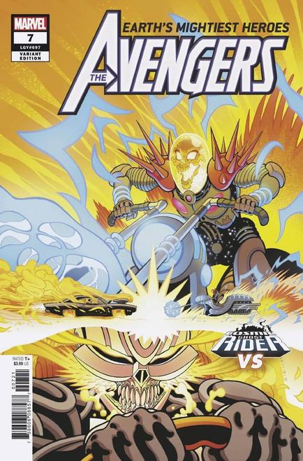 Marvel Comics Avengers #7 Comic Book [Cosmic Ghost Rider Variant Cover]