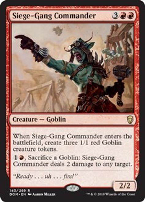 MtG Dominaria Rare Foil Siege-Gang Commander #143