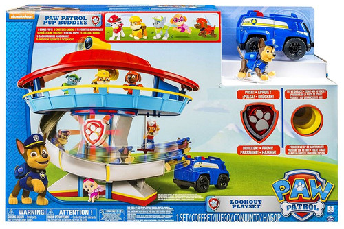 Paw Patrol Lookout HQ Exclusive Playset [with 5 Bonus Pups!, Damaged Package]