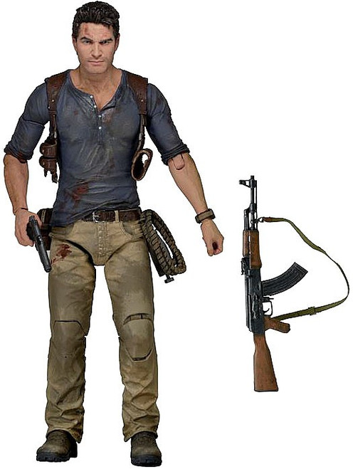 NECA Uncharted 4: A Thief's End Nathan Drake Action Figure [Ultimate Version, Damaged Package]