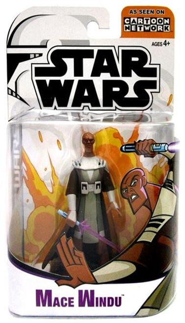 Star Wars The Clone Wars Cartoon Network Mace Windu Action Figure [Damaged Package]