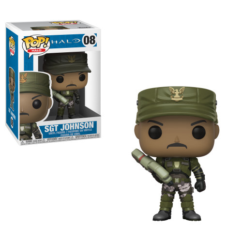 Funko POP! Halo Sgt. Johnson Vinyl Figure #08 [No Cigar, Regular Version, Damaged Package]