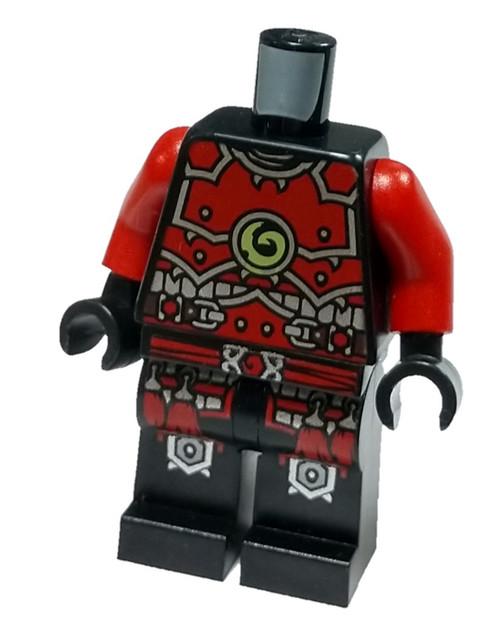 LEGO Red Ninjago Warrior Loose Torso & Legs [Loose]