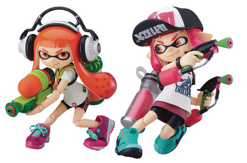 Nintendo Splatoon Figma Inkling Girls Action Figure 2-Pack