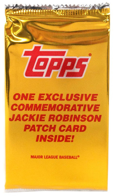 MLB Topps 2017 Series 1 Baseball Jackie Robinson Patch Card Trading Card Pack
