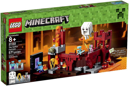 LEGO Minecraft The Nether Fortress Set #21122 [Damaged Package]