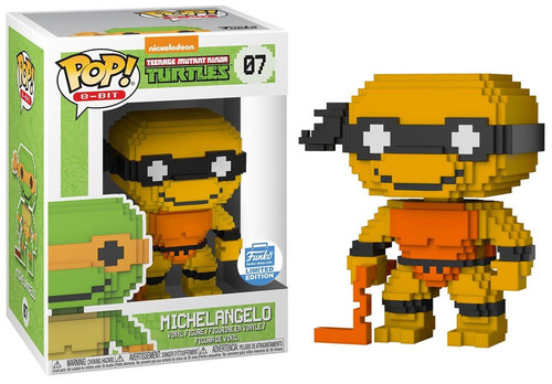 Funko Teenage Mutant Ninja Turtles POP! 8-Bit Neon Michelangelo Exclusive Vinyl Figure #07 [Damaged Package]