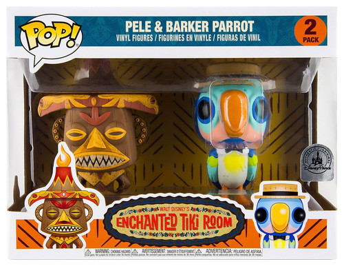 Funko Enchanted Tiki Room POP! Disney Pele & Barker Parrot Exclusive Vinyl Figure 2-Pack [Damaged Package]