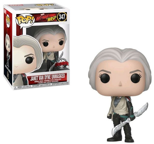 Funko Ant-Man and the Wasp POP! Marvel Janet Van Dyne Exclusive Vinyl Figure #347 [Unmasked, Damaged Package]
