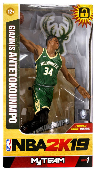 McFarlane Toys Milwaukee Bucks NBA 2K19 MyTeam Series 1 Giannis Antetokounmpo Action Figure