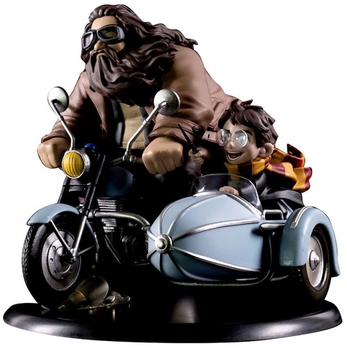 Harry Potter Q-Fig Hagrid & Harry on Motorcycle 6-Inch Figure