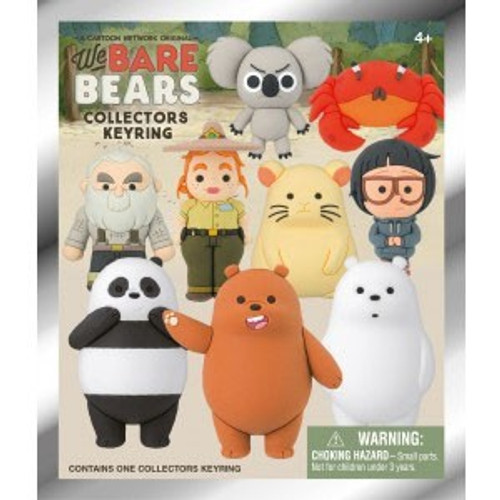 3D Figural Keychain Series 1 We Bare Bears Mystery Pack