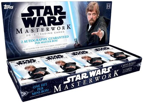Star Wars Topps 2018 Masterwork Trading Card HOBBY Box [4 Packs (MINI Boxes)]