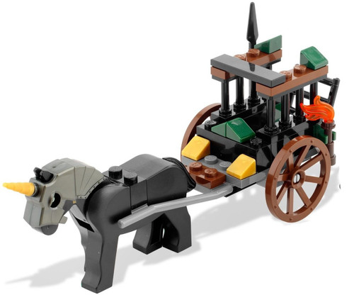 LEGO Kingdoms Horse Drawn Prison Carriage Set [Loose]