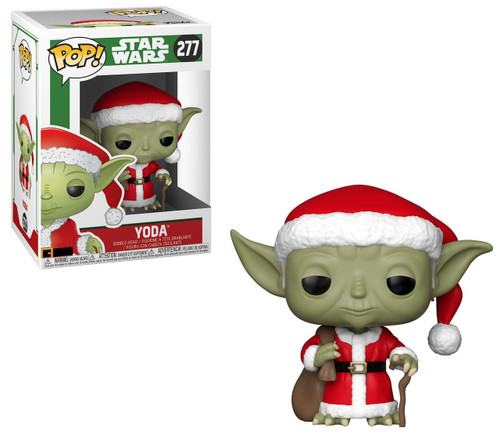 Funko POP! Star Wars Yoda Vinyl Bobble Head #277 [Holiday, Santa]