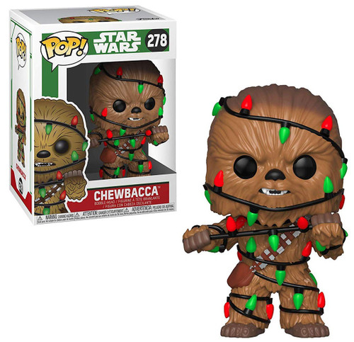Funko POP! Star Wars Chewbacca Vinyl Bobble Head #278 [Holiday, Lights]