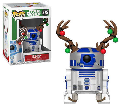 Funko POP! Star Wars R2-D2 Vinyl Bobble Head #275 [Holiday, Antlers]