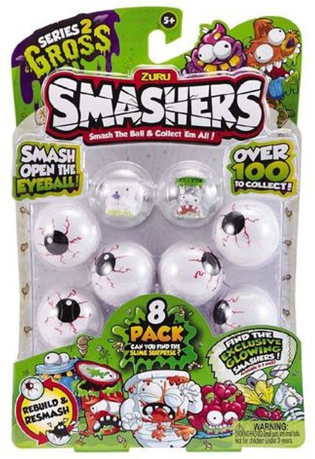 Smashers Series 2 Gross Mini Figure 8-Pack