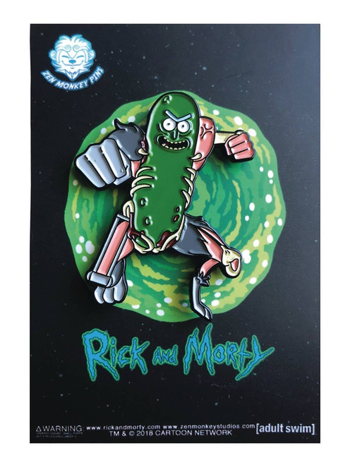 Rick & Morty Pickle Rick 1.6-Inch Enamel Pin [Leaping]