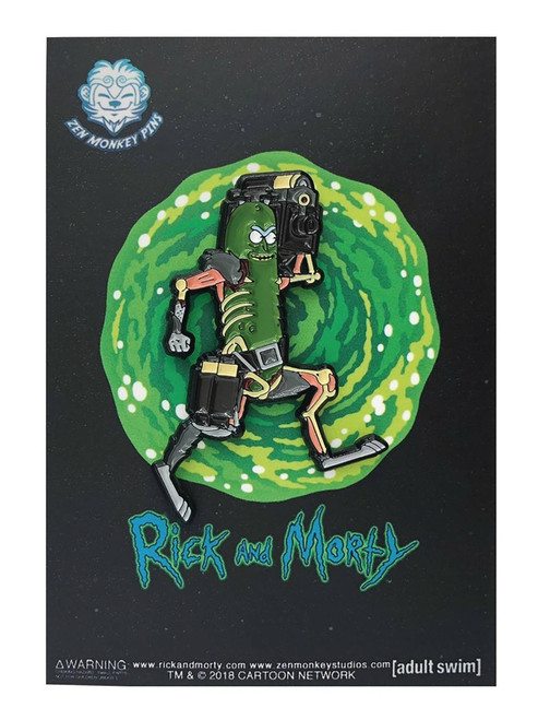 Rick & Morty Pickle Rick 1.6-Inch Enamel Pin [Laser]