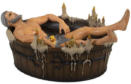 The Witcher 3: Wild Hunt Geralt in the Bath 8-Inch PVC Statue Figure