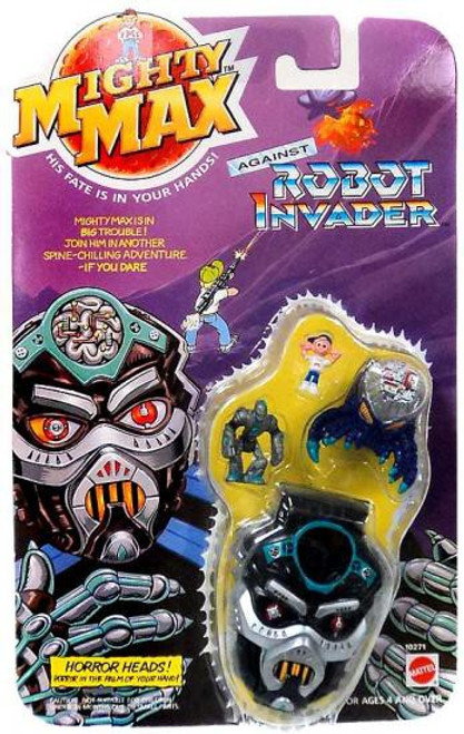 Mighty Max Horror Heads Against Robot Invader Mini Playset