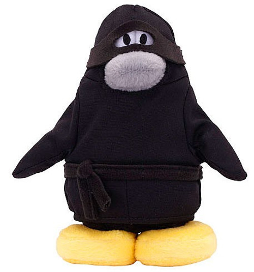Disney Club Penguin Ninja 6.5-Inch Plush Figure [NO COIN with CODE!]