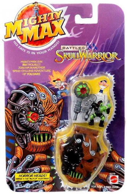 Mighty Max Horror Heads Battles Skull Warrior Mini Playset