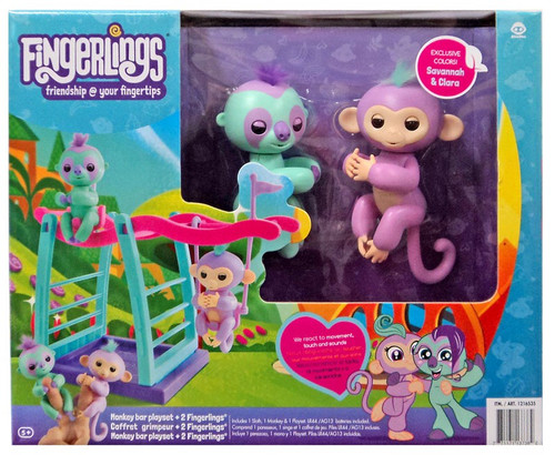 Monkey Bar with 2 Fingerlings Exclusive Playset