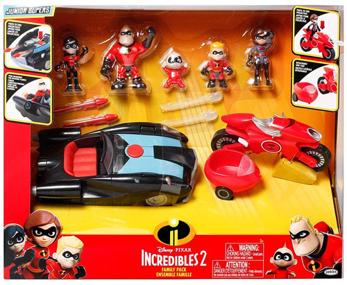 Disney / Pixar Incredibles 2 Junior Supers Family Pack Exclusive 3-Inch Playset