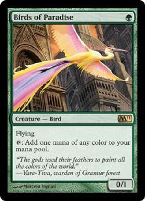 MtG 2011 Core Set Rare Foil Birds of Paradise #165 [Played]