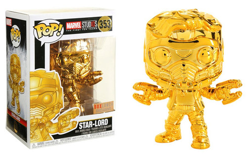Funko Marvel Studios 10 POP! Marvel Star-Lord Exclusive Vinyl Bobble Head #353 [Gold Chrome]