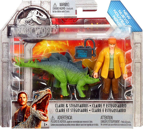Jurassic World Fallen Kingdom Claire & Stegosaurus Action Figure