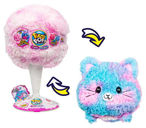 Pikmi Pops Surprise! GIANT Flips! Kessie the Cat Mystery Pack [Reversible Scented Plush!]