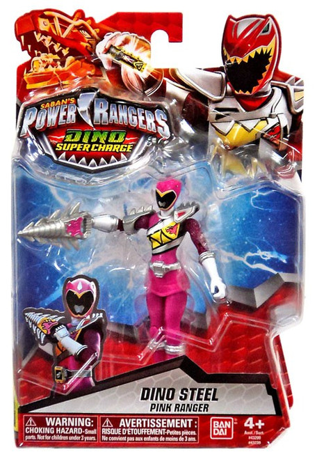 Power Rangers Dino Super Charge Dino Steel Pink Ranger Action Figure [Damaged Package]