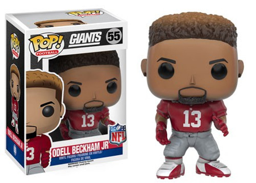 Funko NFL New York Giants POP! Sports Football Odell Beckham Jr. Vinyl Figure #55 [Red Jersey, Damaged Package]
