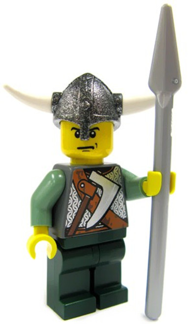 LEGO Vikings Green Viking with Helm and Spear Minifigure [Loose]