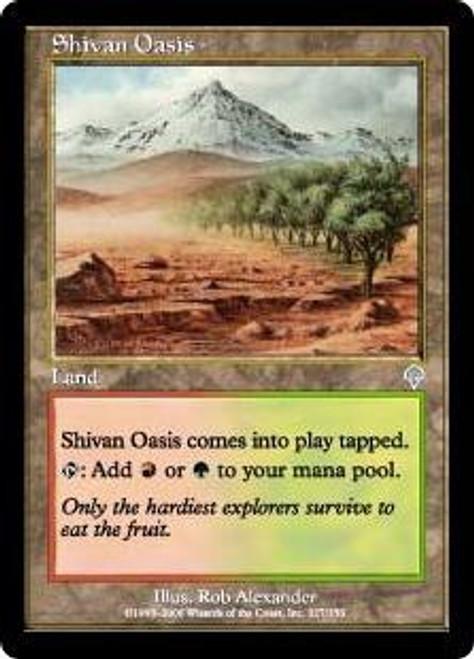 MtG Invasion Uncommon Foil Shivan Oasis #327 [Played]
