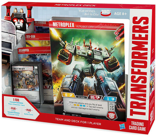 Transformers Trading Card Game Metroplex Autobot City Team & Deck For 1 Player