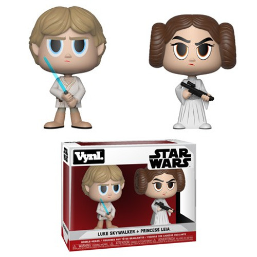 Funko Star Wars Vynl. Luke Skywalker & Princess Leia Vinyl Figure 2-Pack