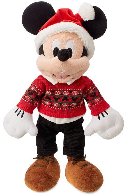 Disney 2018 Holiday Mickey Mouse Exclusive 17-Inch Plush [Red Sweater]