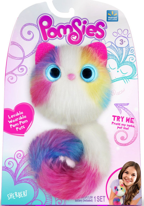 Pomsies Sherbert Exclusive Plush Toy [Color Scheme May Vary]