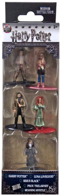 Nano Metalfigs Harry Potter, Luna Lovegood, Sirius Black, Prof. Trelawney & Moaning Myrtle 1.5-Inch Diecast Figure 5-Pack