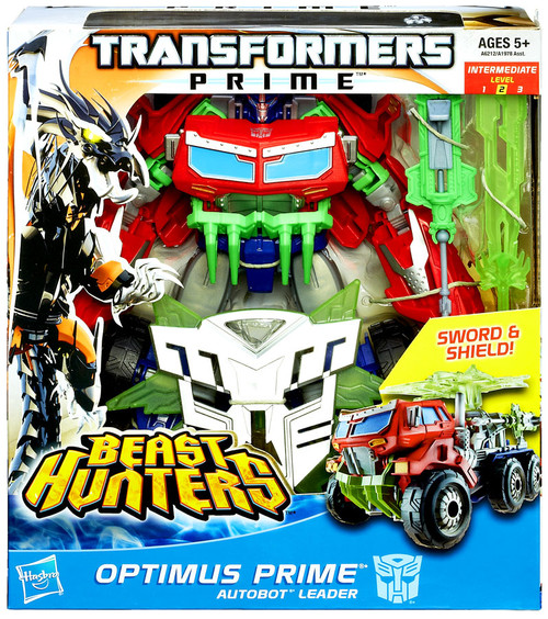 Transformers Beast Hunters Optimus Prime Voyager Action Figure [Sword & Shield]