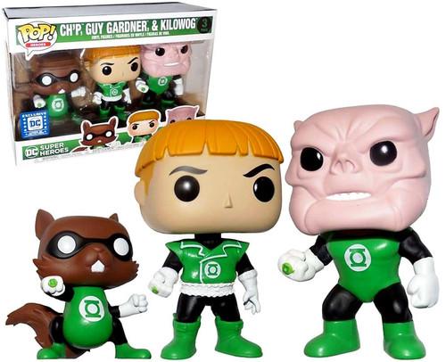 Funko DC Green Lantern POP! Heroes Ch'p, Guy Gardner & Kilowog Exclusive Vinyl Figure 3-Pack