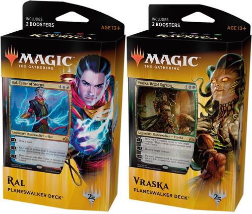 MtG Trading Card Game Guilds of Ravnica Vraska & Ral Zarek Planeswalker Deck [Set of Both]
