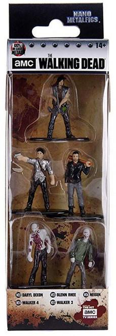 The Walking Dead Daryl Dixon, Glenn Rhee, Negan, Walker 3 & Walker 4 Diecast Figure 5-Pack