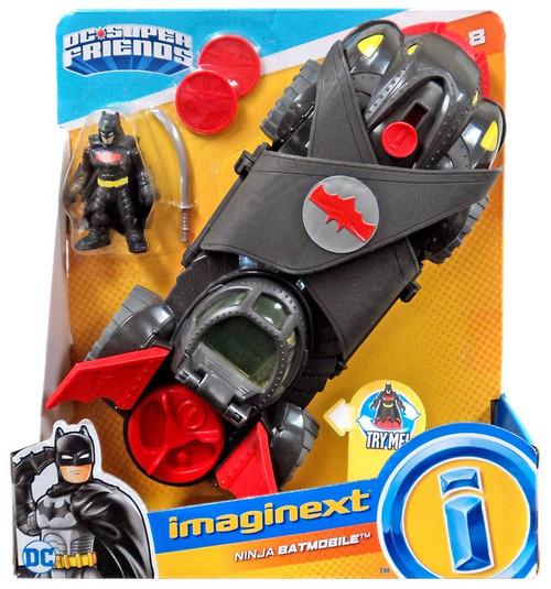 Fisher Price DC Super Friends Imaginext Ninja Armor Batmobile Figure Set